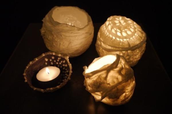 Création de photophores en porcelaine