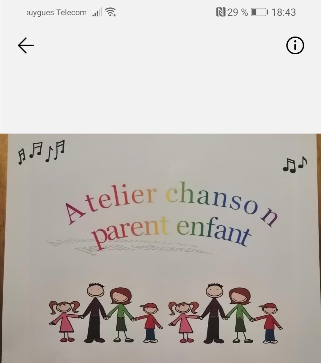 Atelier chanson parent / enfant