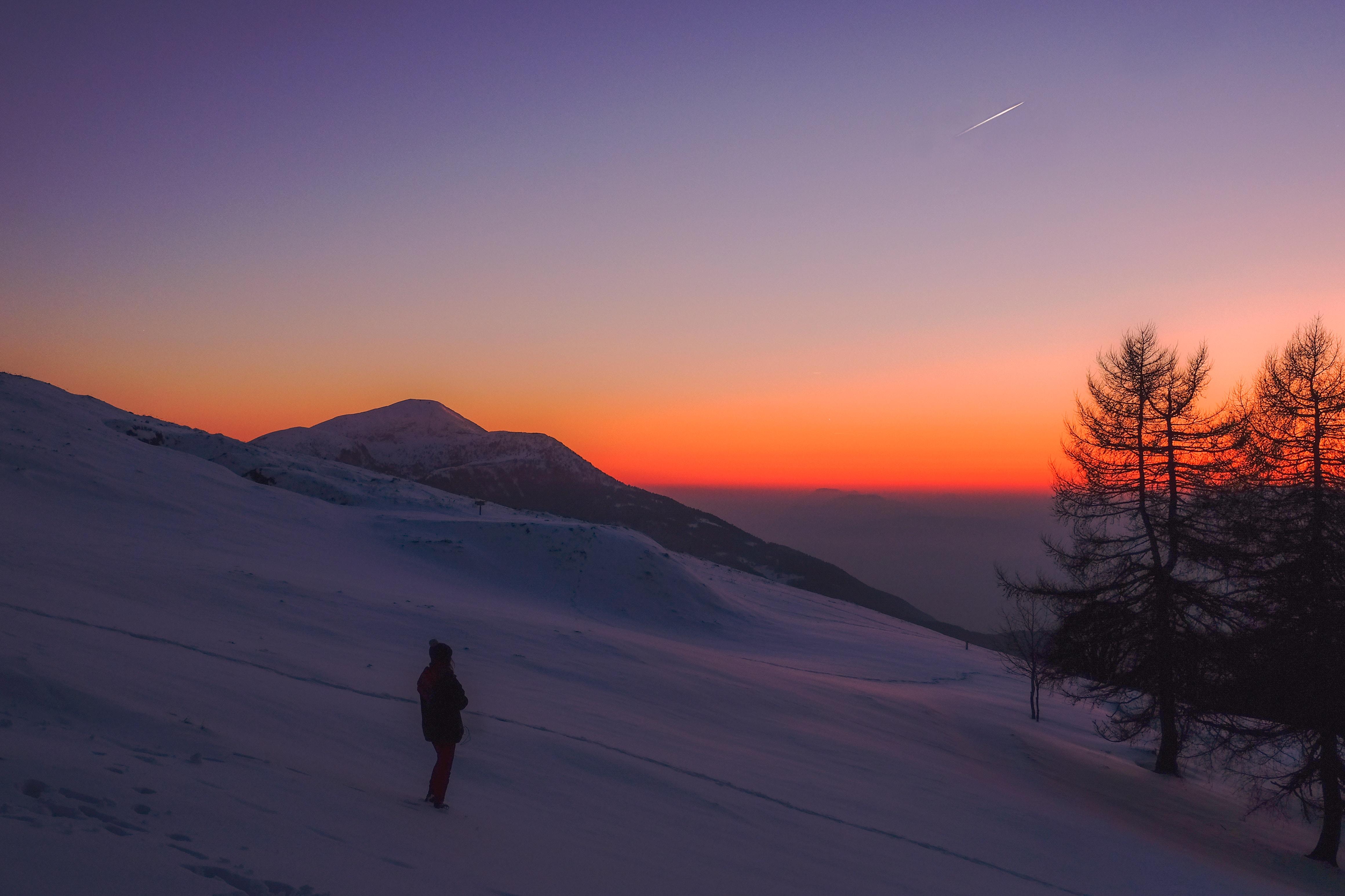 Inoubliable balade en raquettes à neige et coucher du soleil sur le Hohneck et du Ciel étoilé !