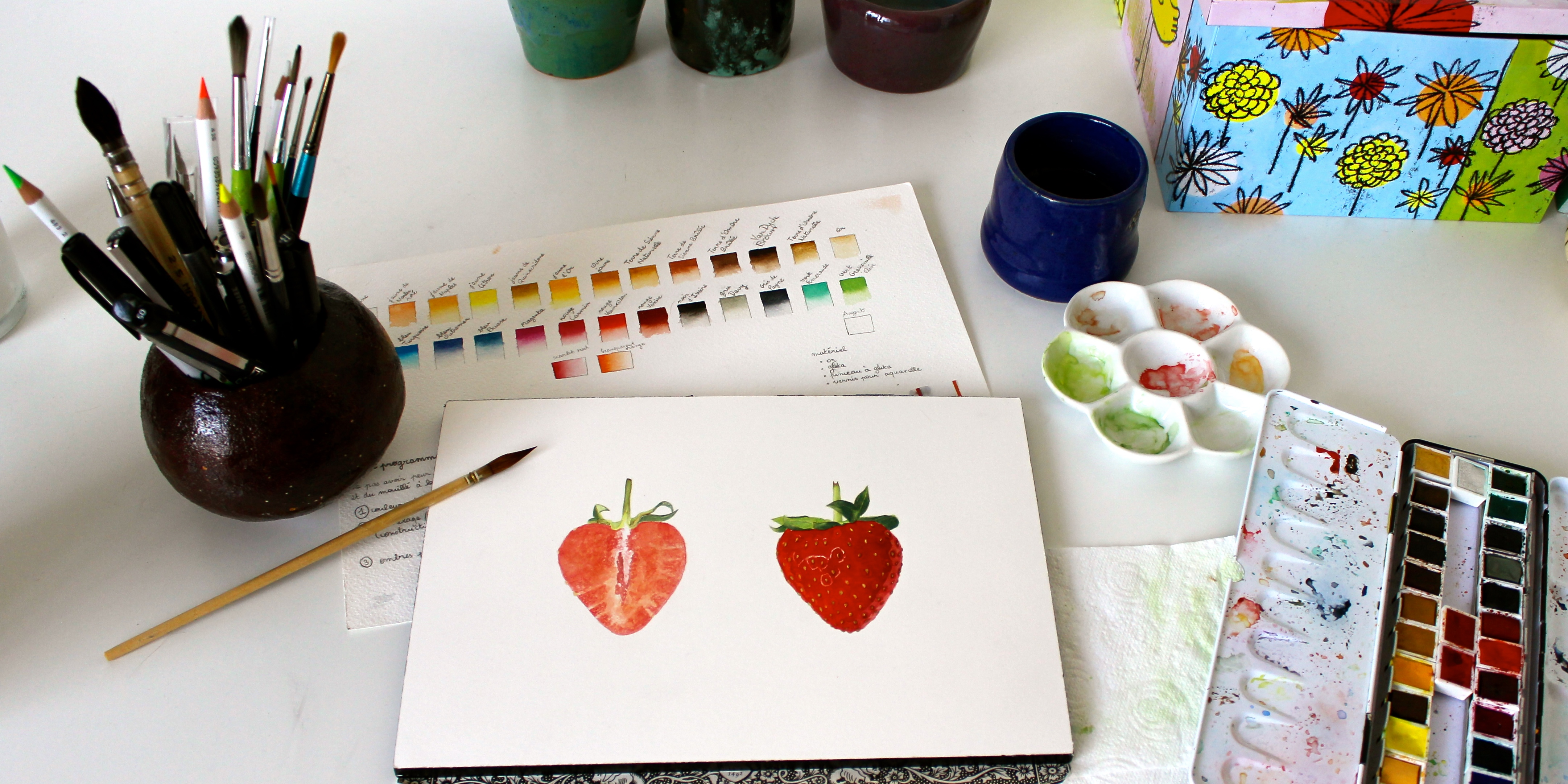 Atelier libre d'aquarelle - FR/EN